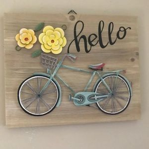 Hello Sign With Metal Appliqués